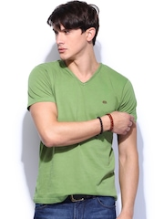 Roadster Men Green T-shirt