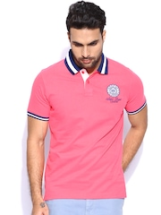 Proline Men Pink Polo T-shirt