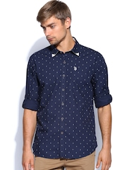 U.S. Polo Assn. Men Navy Printed Casual Shirt