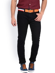 Being Human Clothing Men Black Slim Fit Jeans
