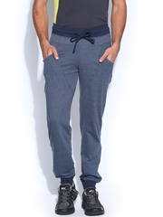 HRX Men Navy Blue Slim Fit Active Track Pants