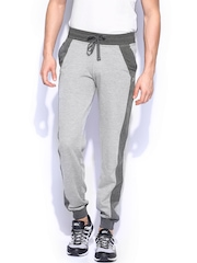 HRX Men Grey Melange Active Track Pants