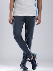 HRX Men Blue Melange Active Track Pants