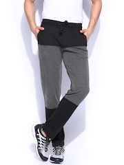 HRX Men Grey & Black Active Track Pants
