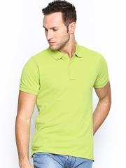 Lee Men Lime Green Polo T-shirt