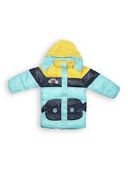 Camey Boys Light Blue Padded Hooded Jacket