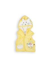 Camey Kids Yellow Hooded Sleeveless Jacket