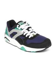 PUMA Men Blue & Black Trinomic R698 Sneakers