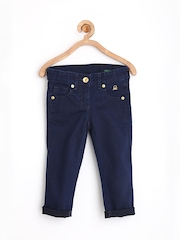 United Colors of Benetton Girls Navy Skinny Fit Jeans