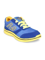 Stylistry Men Blue & Yellow Sports Shoes
