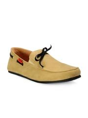 Funk Men Beige Boat Shoes