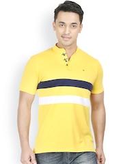 Design Classics Men Yellow Polo T-shirt