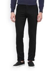 Men Black Slim Fit Trousers TNG New York