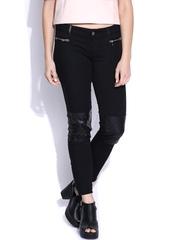 GAS Women Black Skinny Fit Shindy Trousers