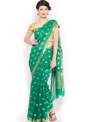 Anouk Green Chiffon Fashion Saree