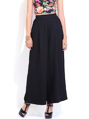 DressBerry Women Black Palazzo Trousers