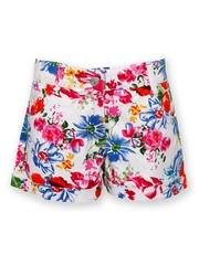 Joshua Tree Tropical Tide Girls Multicoloured Floral Printed Shorts