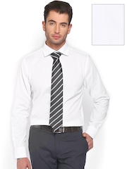 Tie Rack London Men White Slim Fit Formal Shirt with Tie