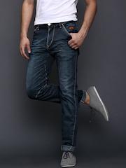 WROGN Men Navy Slim Fit Twisted Seam Jeans