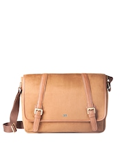 Atorse Unisex Tan Brown Laptop Bag