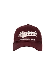 HARVARD Men Maroon Retroregetta Vintage Cap