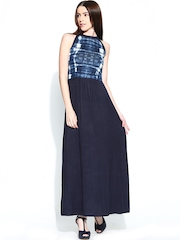 AND by Anita Dongre Navy Printed Maxi Dress