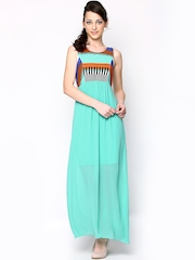 AND by Anita Dongre Sea Green Maxi Dress