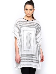 AND by Anita Dongre Women Off-White Printed Kaftan Tunic