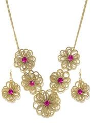 Adrika Gold-Toned Jewellery Set