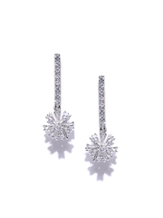 Siyora Silver-Toned Drop Earrings