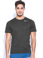 Nike Men Charcoal Grey Touch SS Heather T-shirt