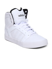 Adidas NEO Men White Hitop Mid Leather Casual Shoes