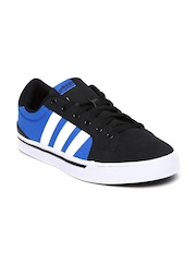 Adidas NEO Men Black & Blue Suede Park ST Casual Shoes