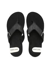 Franco Leone Men Black Flip-Flops