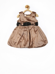 Happy Face Girls Brown Balloon Dress