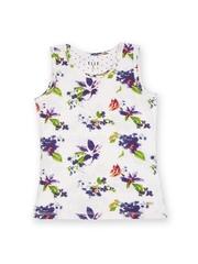 Elle Kids Girls White & Purple Printed Top