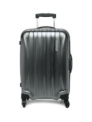 American Tourister Unisex Gunmetal-Toned Arona Small Trolley Suitcase