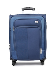 American Tourister Unisex Navy Magnalite Spinner Trolley Suitcase