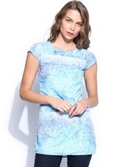 Inmark Women Blue Printed Tunic