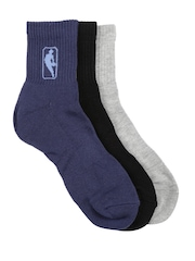 NBA Men Set of 3 Sports Socks