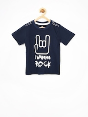 Yellow Kite Boys Navy Printed T-shirt