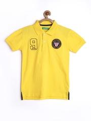 Palm Tree by Gini and Jony Boys Yellow Polo T-shirt