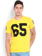 Kook N Keech Men Yellow Printed T-shirt