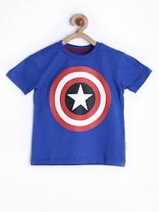 Marvel by Kids Ville Boys Blue Printed T-shirt