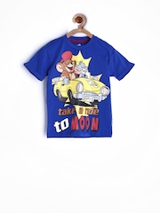 Tom & Jerry by Kids Ville Boys Blue Printed T-shirt
