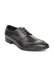 Ruosh Occasion Men Grey Leather Derby Shoes