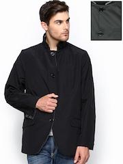 Men Grey & Black Reversible Jacket Wills Lifestyle