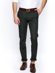 Allen Solly Men Grey Smart Slim Fit Chino Trousers