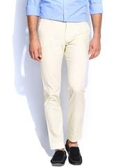Allen Solly Men Light Beige Smart Fit Trousers