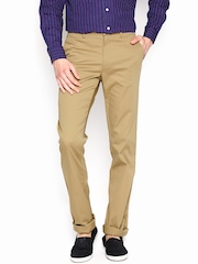 Allen Solly Men Khaki Custom Slim Fit Chino Trousers